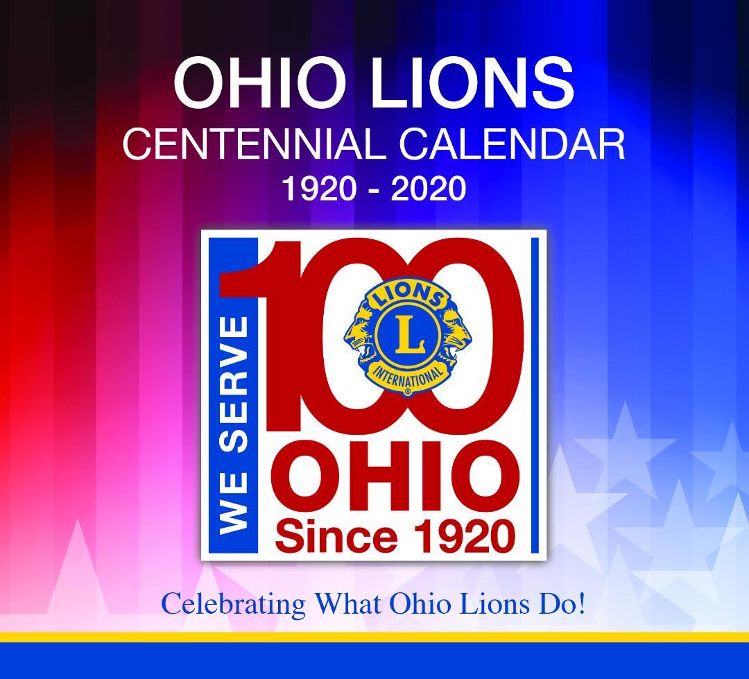 Ohio Lions Centennial Calendar - 2019-2020