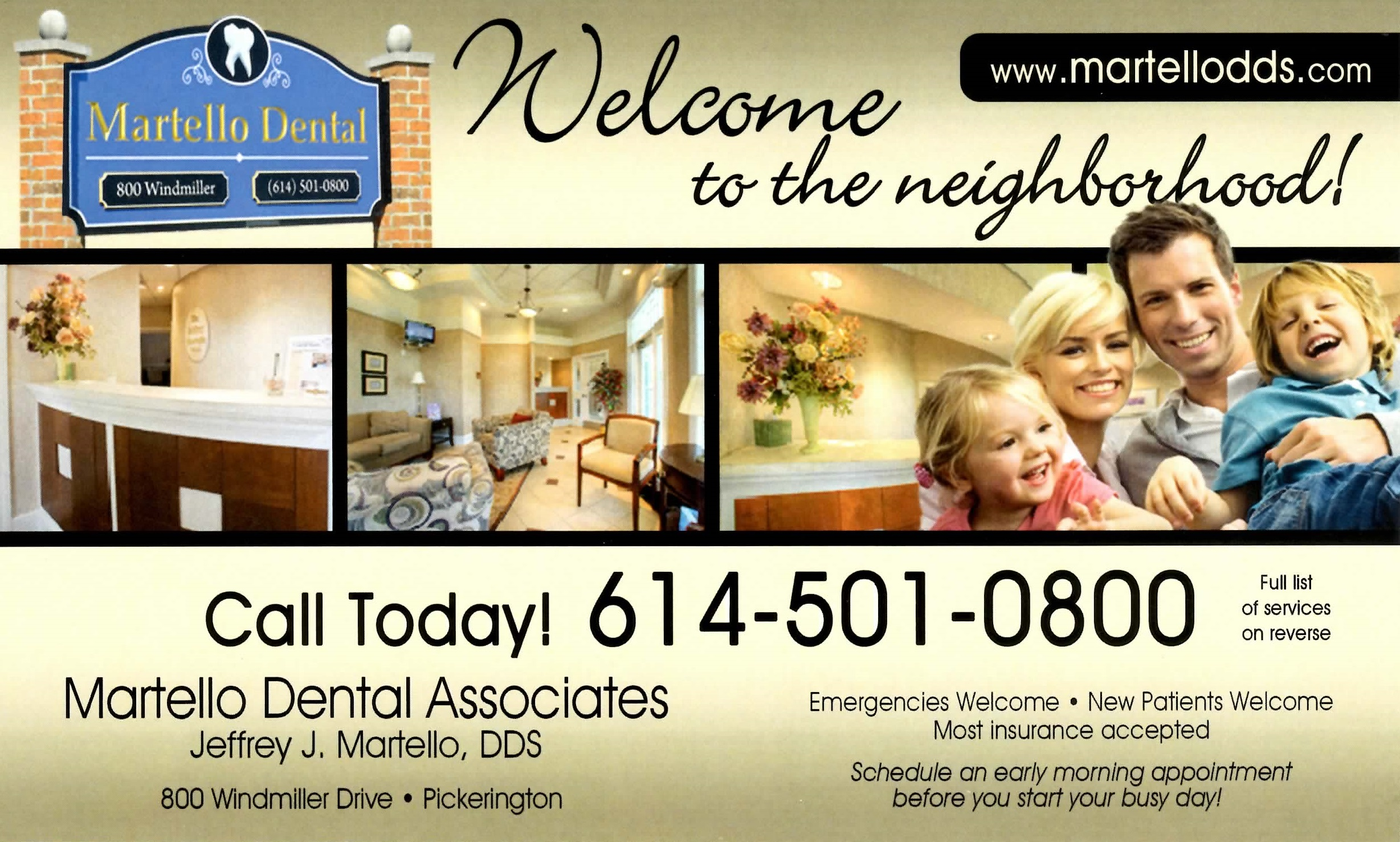 Dr. Martello's New Homeowner Post Card