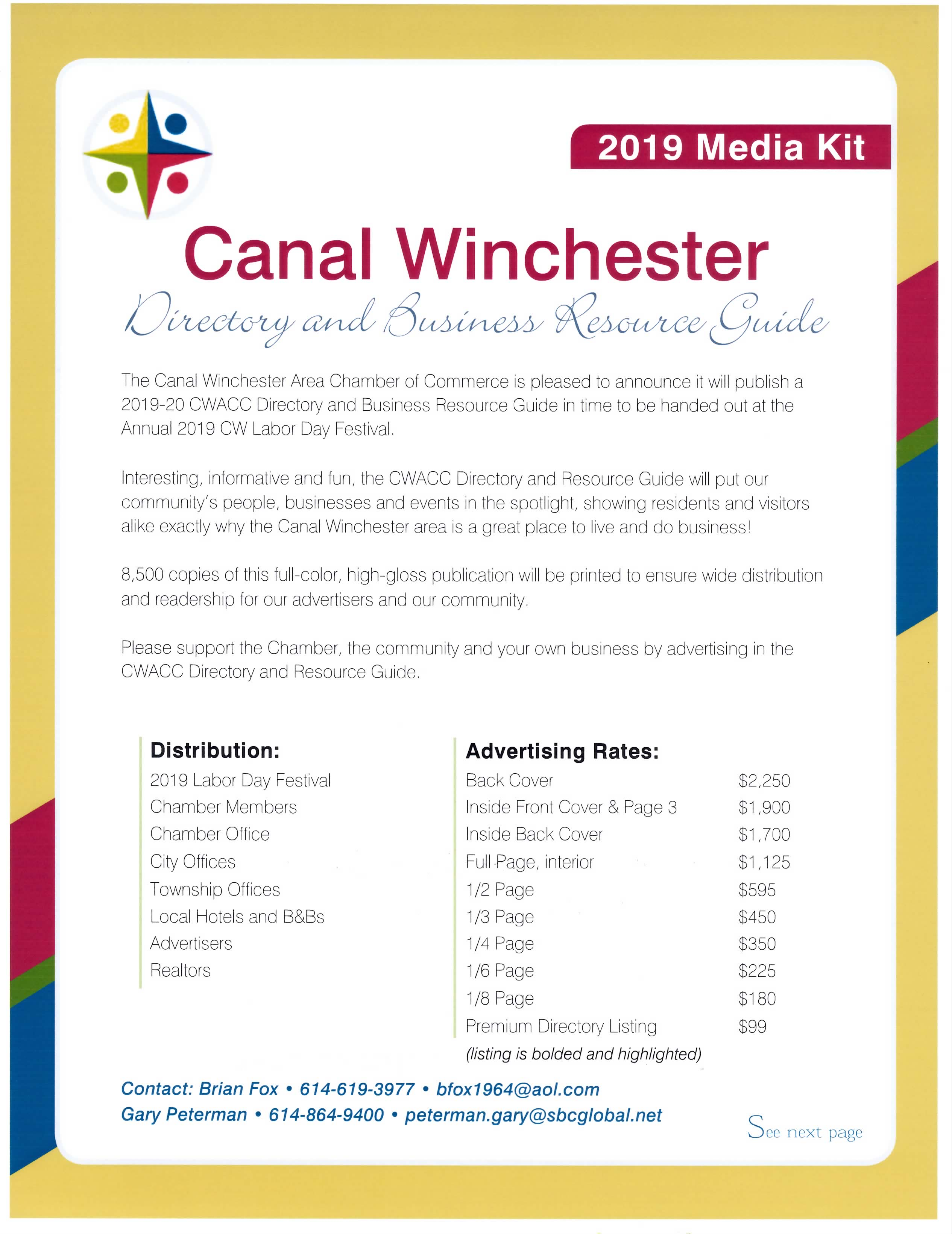 Media Kit for CWACC Chamber Directory