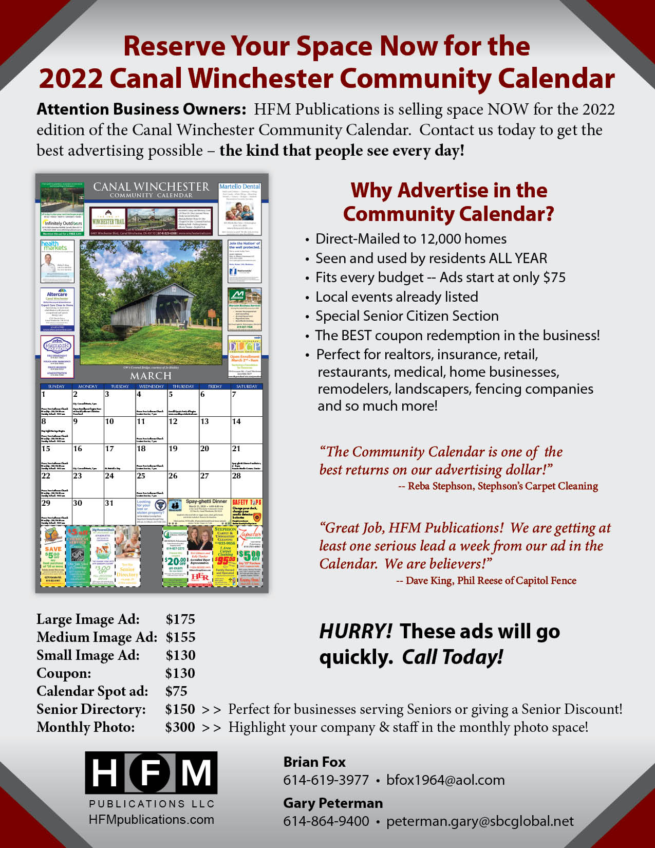 Pickerington Community Calendar status